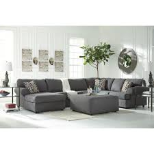 Ashley Furniture Jayceon LAF Chaise Sectional in Steel