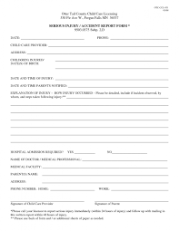 Medical Office Incident Report Template