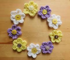 Knitted Flower Pattern Cool Easy Daisy Knit Flower Pattern AllFreeKnitting
