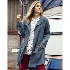 pure cotton denim trench coat ulla popken image 0