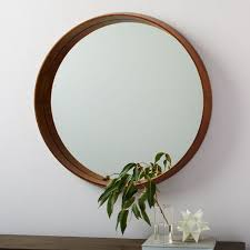 eucalyptus wood frame ledge round wall