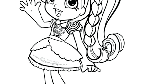 Shopkins Shoppies Coloring Pages Dolls Coloring Pages Stock Coloring