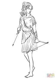 Artemis Coloring Page With Goddess Aphrodite Coloring Pages