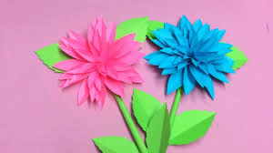 Dahlia Flower Making With Paper How To Make Dahlia Flower With Paper Making Paper Flowers Step By Step Diy Paper Crafts