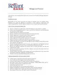 Mortgage Loan Officer Job Description Resume Sample Originator Best