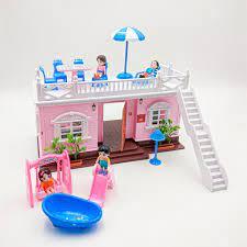 Bộ đồ chơi ngôi nhà búp bê cho bé gái - 3 phòng - Thiết kế hiện đại cực đẹp  giá cạnh tranh