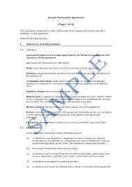 Partnership Agreements Partnership Contracts Ninjaturtletechrepairsco 2