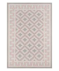 love this product pink greek key border thompson wool rug