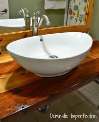 attractive large white sink large white vessel sink domestic imperfection