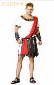 Halloween Cool Adult Men Ancient Greece Samurai Cosplay Costume For Stage