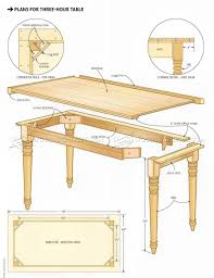 Easy Table Plans Easy Table Plans O Woodarchivist
