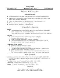 resume for restaurant cook job description for resume foodcity me