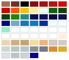 International Marine Paint Color Chart