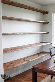 shelves for office. Diy Dining Room Open Shelving The Wood Grain Cottage Floating Shelves With Recessed Lights Office Computer For