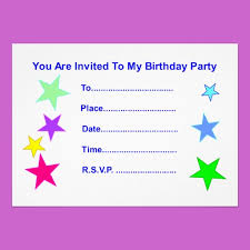 Stars Invitation Template Happy Birthday With Stars Invitation Card Star Gift Shop