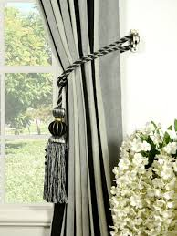 petrel vertical stripe back tab chenille curtains tassel tiebacks petrel  vertical stripe back tab chenille curtains
