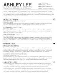 The Ashley Resume Resume Template Free Resume Templates