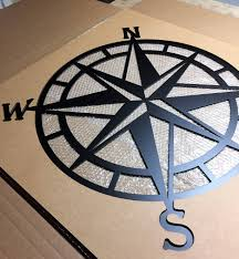 compass wall decor nautical compasswall art nautical metal pertaining to best and newest nautical metal wall