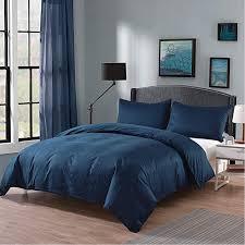 ruikasi king size bedding set 3 pc bedding set blue 100 breathable cotton for