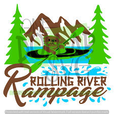 This is a map showing the shape of illinois, shaded in blue. Rolling River Rampage Svg Design One Dollar Svg