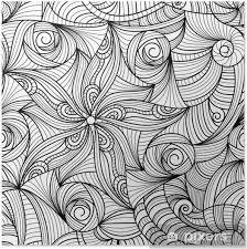 Poster Vector Seamless Texture Di Disegno In Bianco E Nero Pixers
