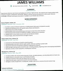Resume Samples For Estheticians