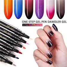 One Step Gel Lak Na Nehty Pen 3 V 1 Soak Off Uv Led Lak Na Nehty Gel Malování Lak Pen Nail Art Thermochromic At Vova