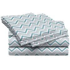 Home Dynamix Jill Morgan Fashion Printed Chevron Blue Microfiber Queen  Sheet Set (4-Piece)-Q-JMCQ-309 - The Home Depot