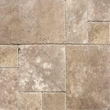 mediterranean walnut pattern honed unfilled chipped travertine floor