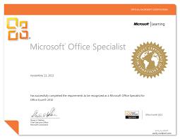 Microsoft Office Training Certificate Resultado De Imagen Para Certificados Microsoft In 2019