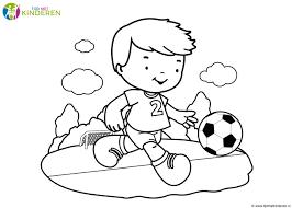 Voetbal Piet Kleurplaat