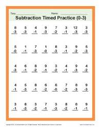 1st grade math, 1st grade math worksheets and First grade math on ...first grade math | Subtraction Timed 0-3 | Kindergarten, 1st Grade Math Worksheets