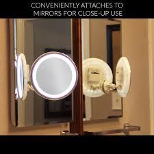 vanity mirror lighting. Amazon.com : LED Makeup Mirror - Adjustable 5x Magnification Lighted Vanity. Warm Tap Light Bathroom With Powerful Rotating, Vanity Lighting