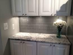gray kitchen tile wonderful grey glass subway backsplash and