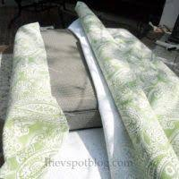 diy outdoor furniture cushions. Fine Diy How To Temporarily Recover Furniture Cushions With Diy Outdoor Furniture Cushions