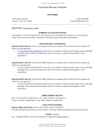 Students Resume Sample Functional Resume Examples For College