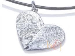 sterling silver custom double thumbprints heart pendant custom handmade fingerprint jewelry by b jess