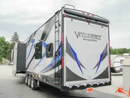2018 new forest river vengeance 381l12 6 toy hauler fifth wheel in ohio oh