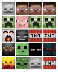 Free Printable Minecraft Cupcake Toppers High Resolution Tnt