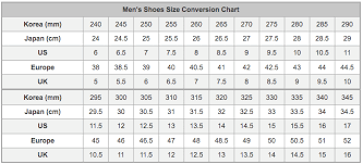 Korean Shoe Size Conversion Chart 8 Korean Shoes Sizing In Us Korean Shoe Size Chart
