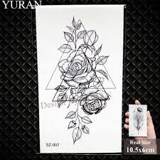 акварель бумага плоскости временные татуировки наклейки женский боди арт Arm Reed