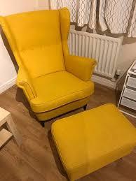ikea wing chair strandmon with footstool in barnet london gumtree