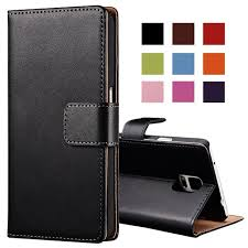 genuine leather case for samsung galaxy note 4 n9100 wallet style flip stand phone back cover