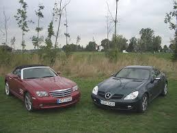 I love everything about this car. Bilder Vergleich Crossfire Vs Slk Bruderkampf Autoplenum De