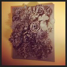 flower canvas wall art tutorial d flower wall art faux flowers hot glued to canvas on
