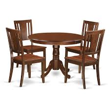 Shop Hldu5 Mah 5 Pc Set With A Round Table And 4 Kitchen Chairs