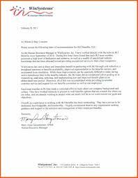 Employee Recommendation Letter recommendation letter for employee program format 1