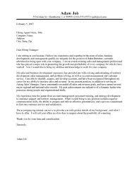 Sales Management Cover Letter 71 Images 9 Job Application
