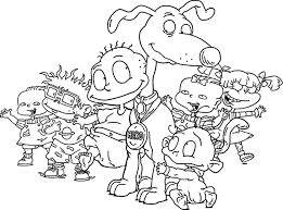 Kids Rugrats Coloring Pages | Cartoon Coloring pages of ...