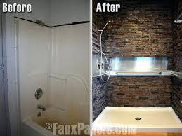 fake tile shower walls shower wall panels that look like tile stupefy best for bathroom home fake tile shower walls
